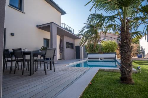 Construction d'une Ouest lyonnais villa contemporaine 137 m2