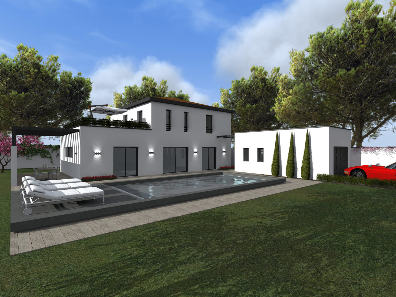Projets immobiliers archive maisons elytis lyon ouest for Garage mure st genis les ollieres